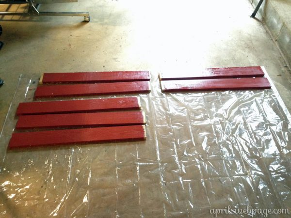 staining decorative pieces