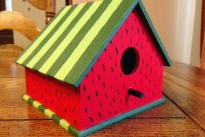 watermelon birdhouse