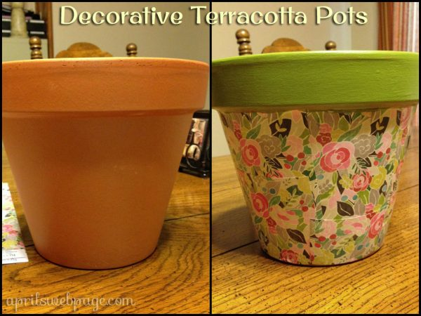 decorative terracotta pot
