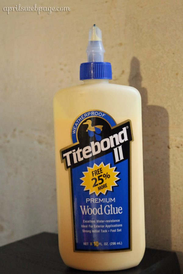 weatherproof Titebond II premium wood glue
