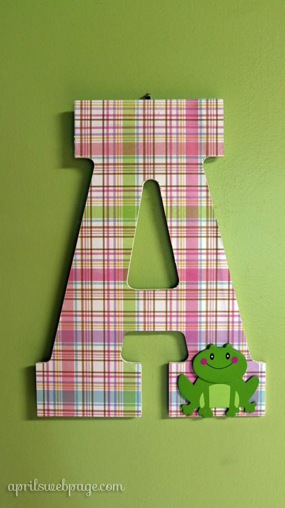 cute letter A for child's room