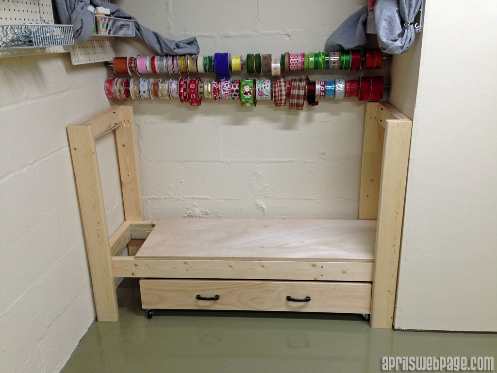 craft storage workbench main frame