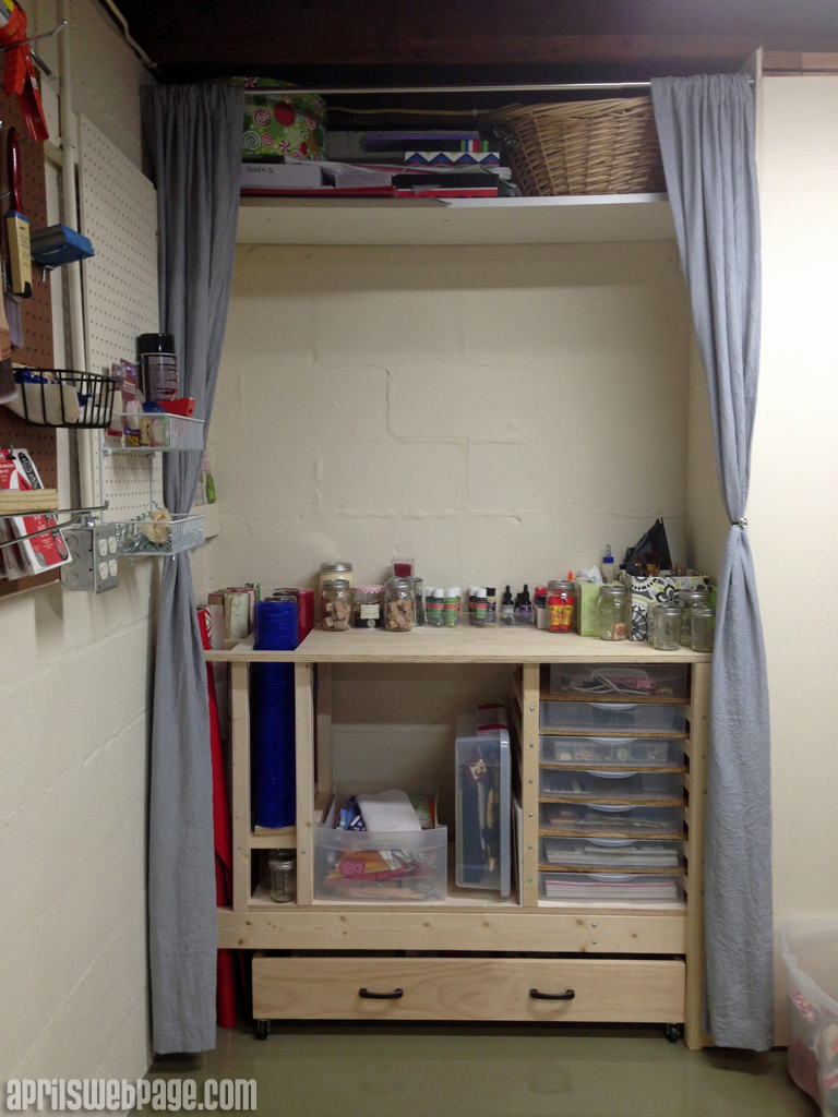 craft storage work bench