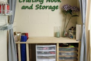 Crafting Nook & Storage Work Bench