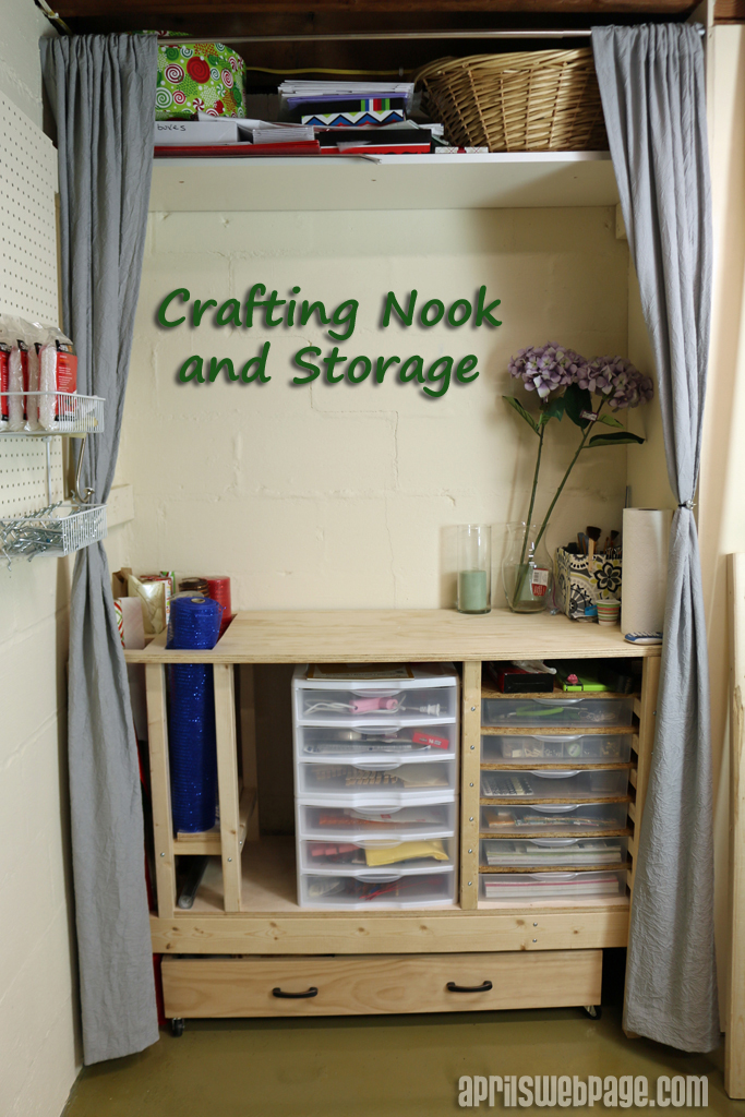 crafting nook and craft organization