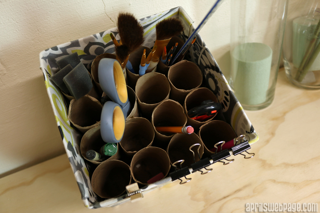 DIY desktop storage bin