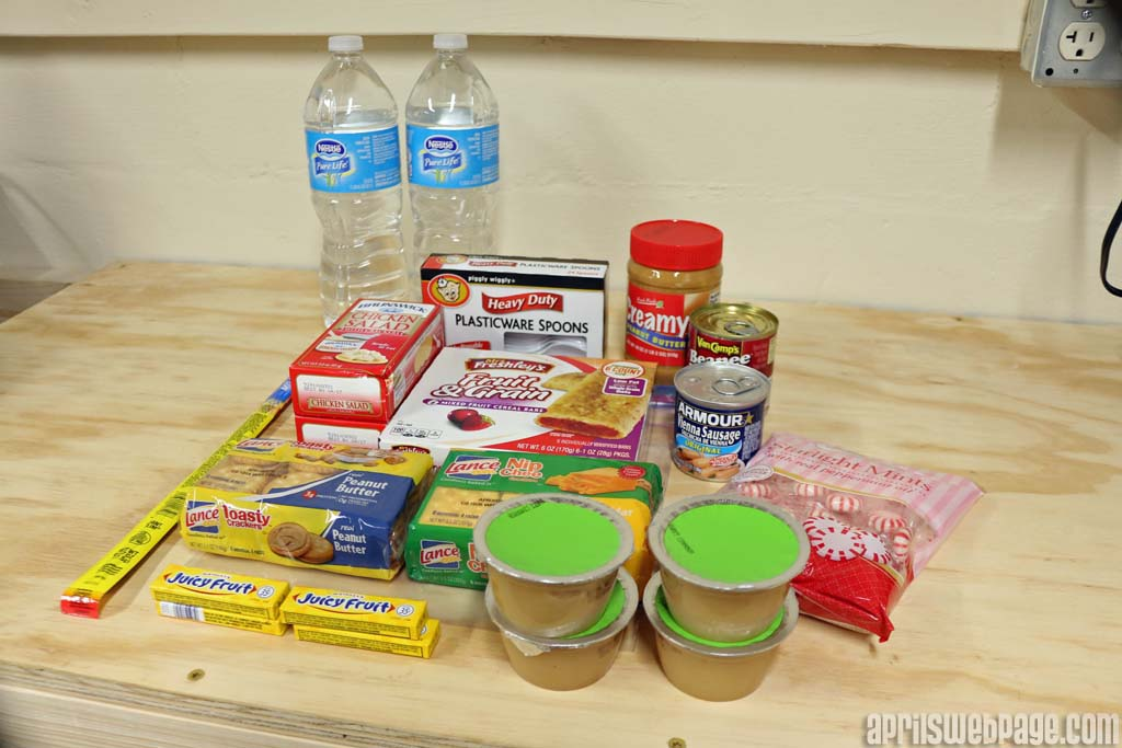 food items for homeless care package