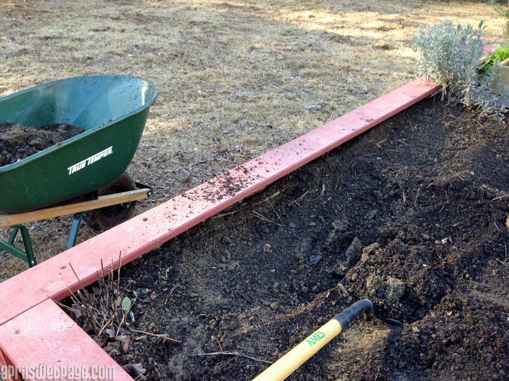 removing dirty from raised garden beds