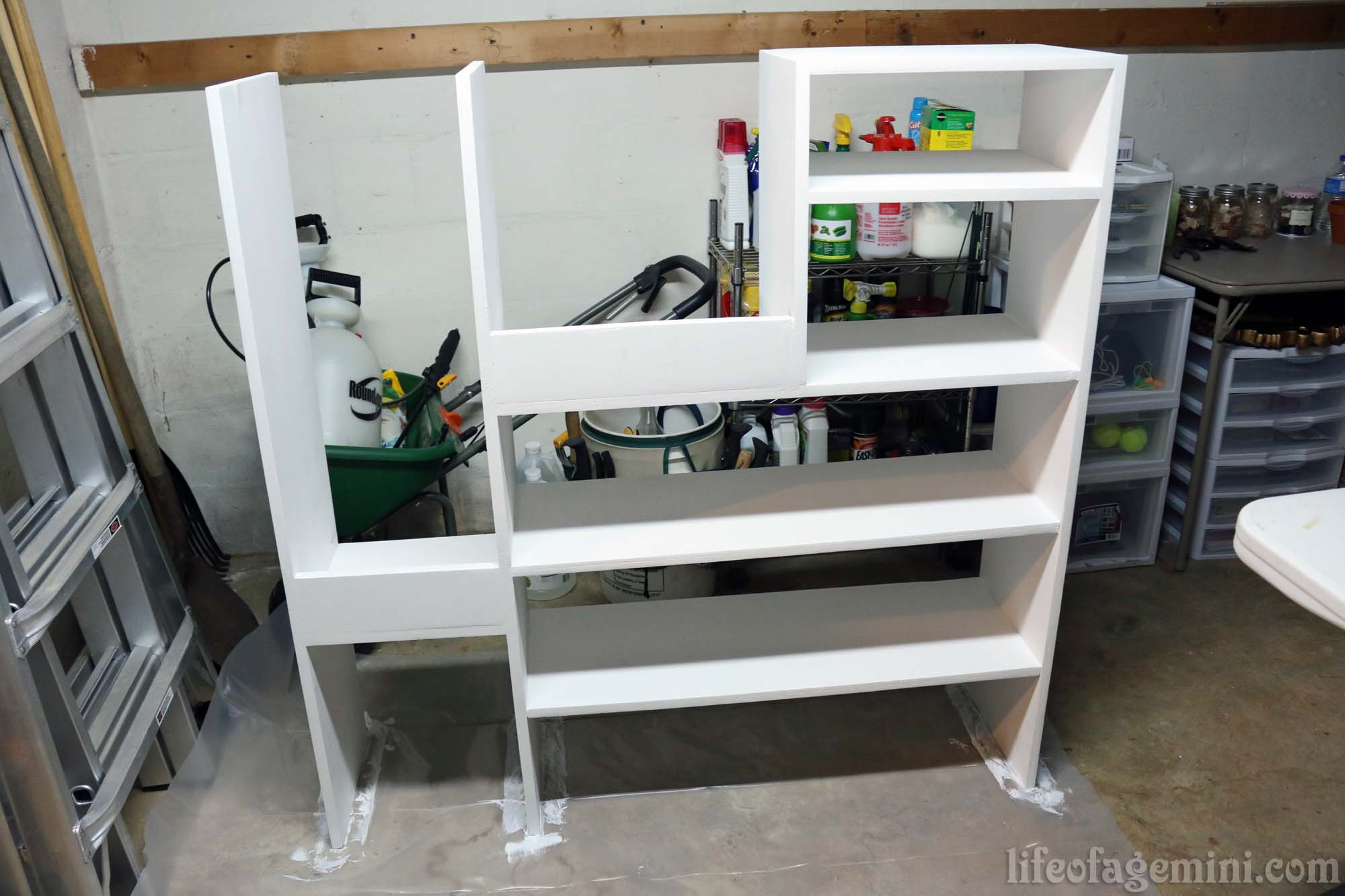 DIY paint storage shelving