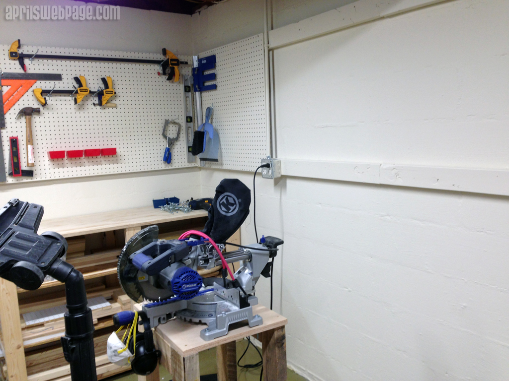miter saw stand and workbench
