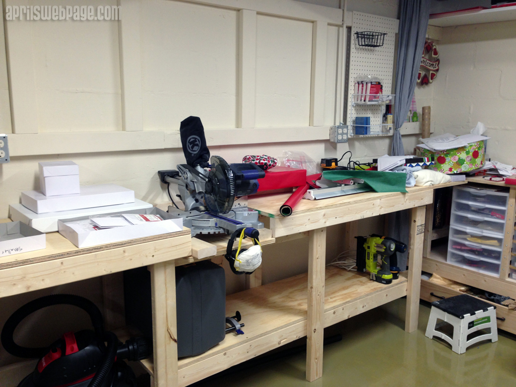 DIY miter saw workbench progress